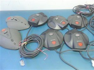 Box of Assorted POLYCOM Extended Microph