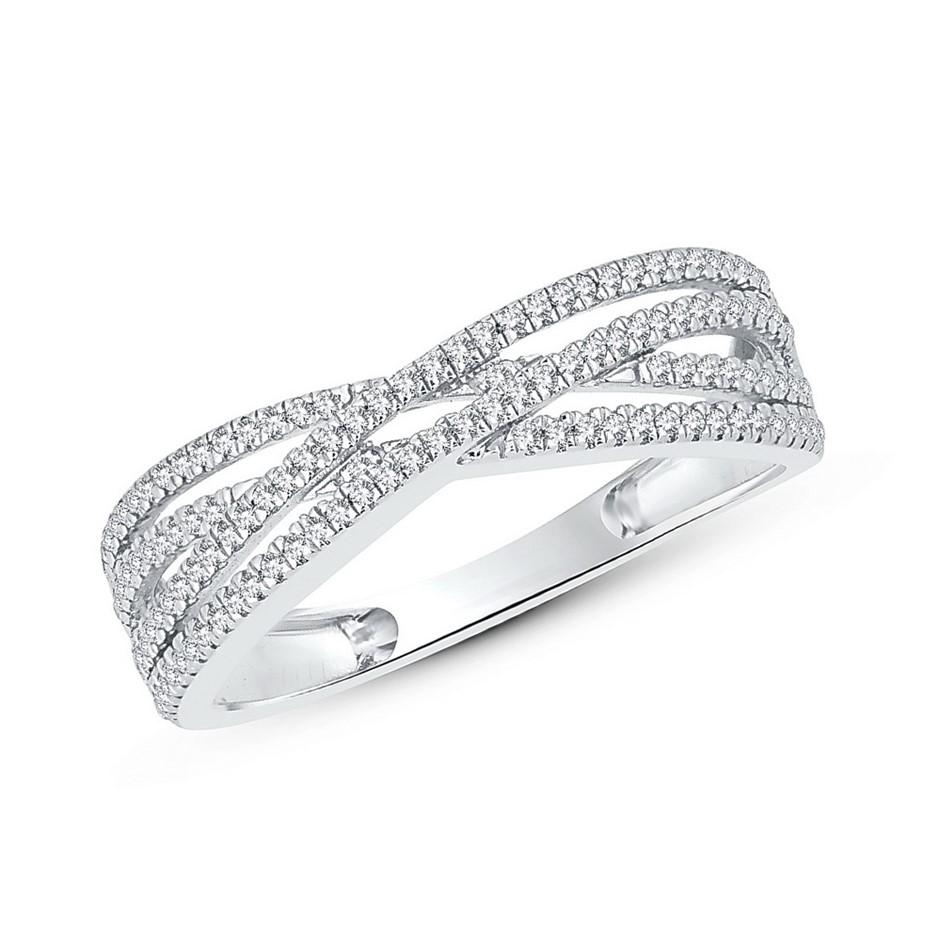 9ct White Gold, 0.19ct Diamond Ring