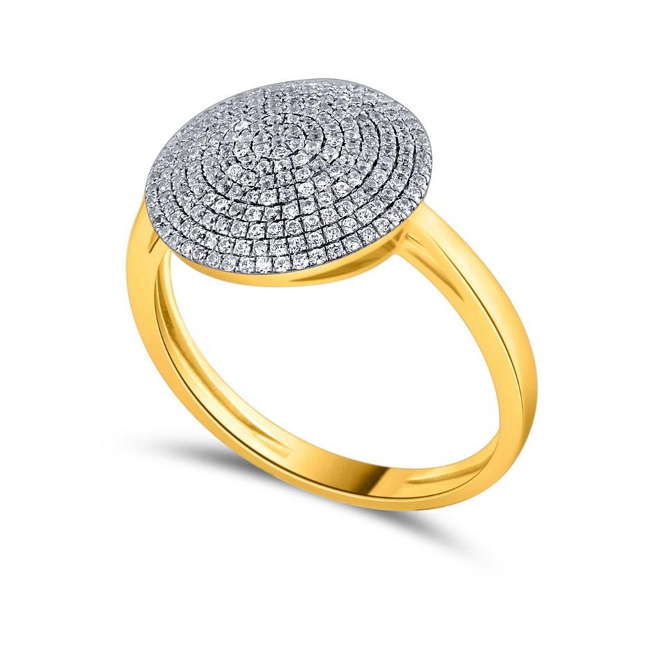 9ct Yellow Gold, 0.31ct Diamond Ring