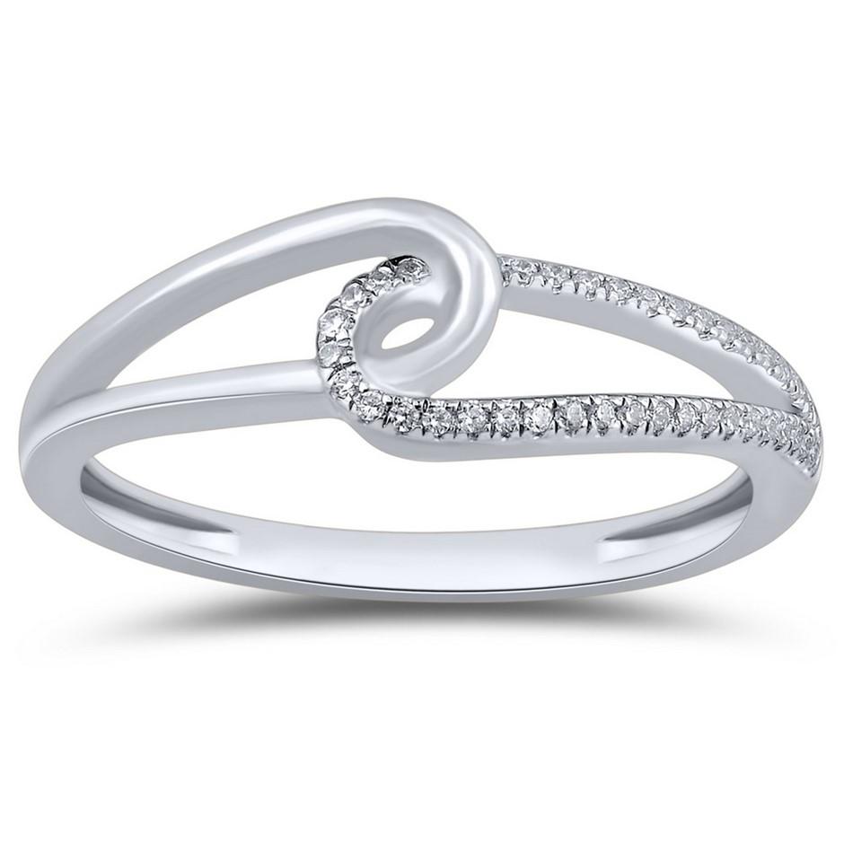 9ct White Gold, 0.06ct Diamond Ring