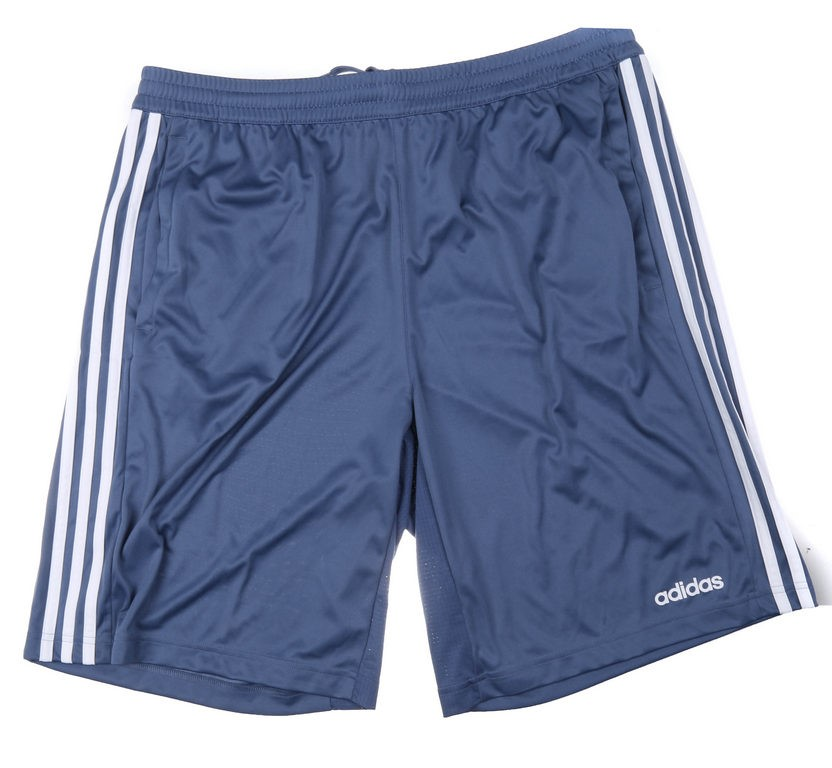 ADIDAS Men`s D2M Cool Shorts 35, Size L, 100% Polyester, Tencink/White. Buy