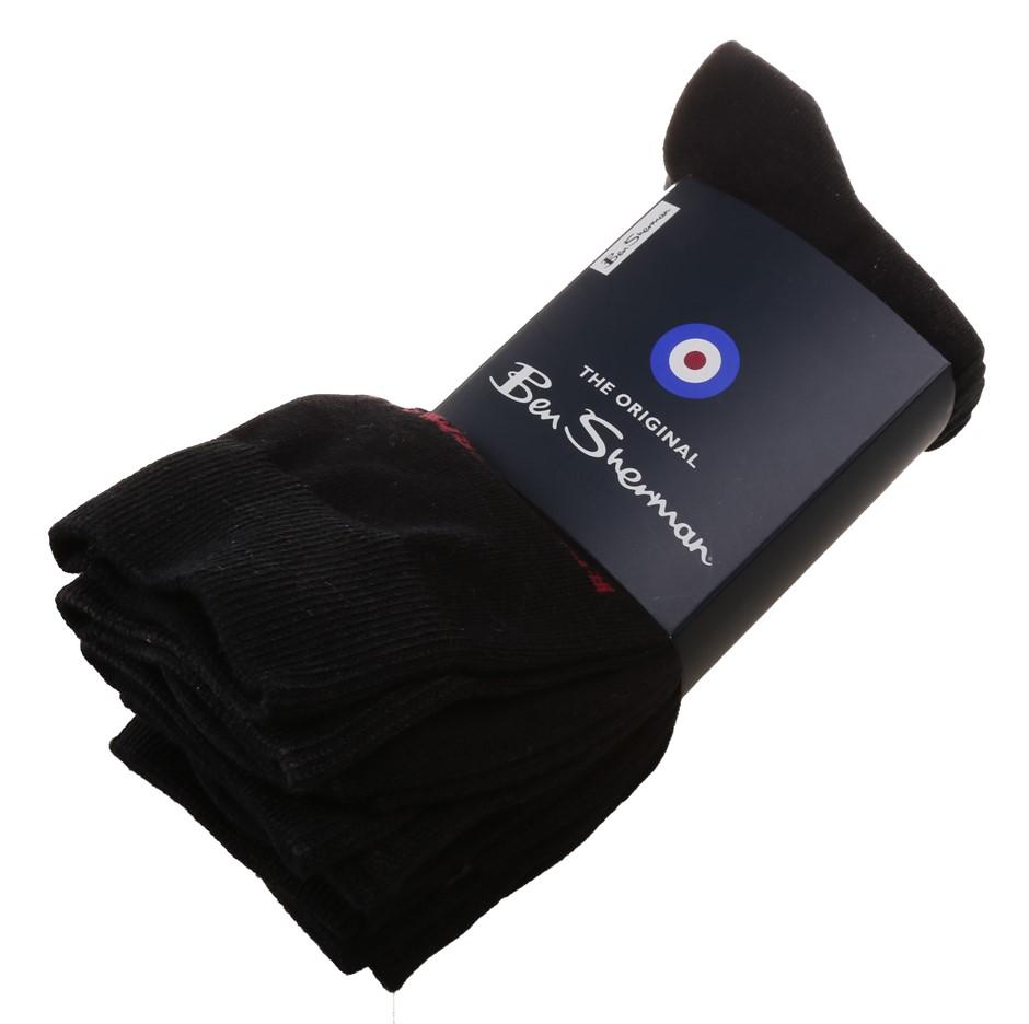 BEN SHERMAN Men`s 5pk Hedgehunter Logo Socks, Size UK 7-11, 72% Cotton/24%