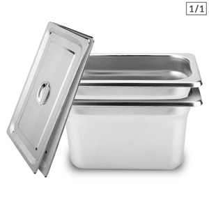 SOGA 2X Gastronorm GN Pan Full Size 1/1