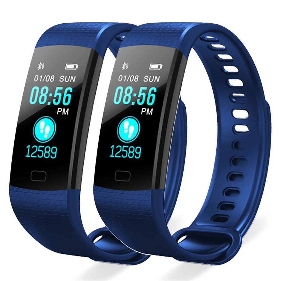SOGA 2X Sport Smart Watch Fitness Wrist Band Bracelet Activity Tracker Blue