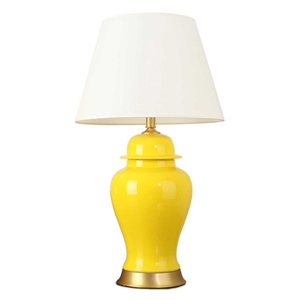 SOGA Oval Ceramic Table Lamp with Gold M