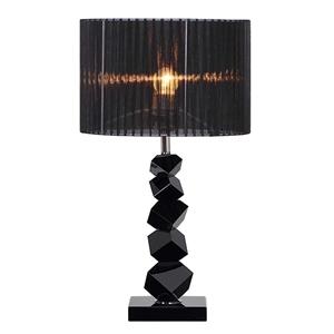 SOGA 55cm Black Table Lamp with Dark Sha