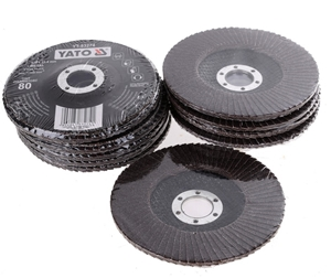 10 x YATO Flap Discs 125 x 22.4mm, Grit