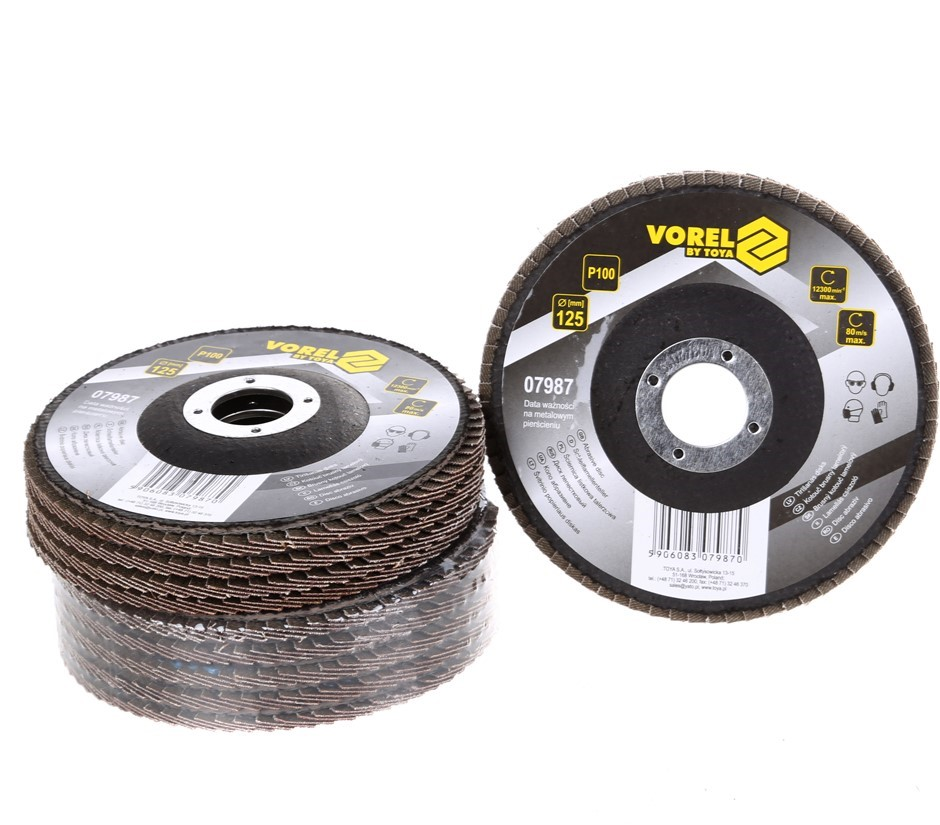 10 x VOREL Flap Discs 125mm, Grit P60. Buyers Note - Discount Freight Rates
