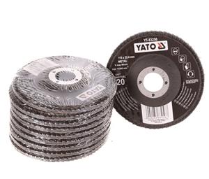 10 x YATO 115mm Flap Discs for Metal, Gr