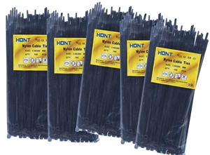 5 Packs Of Cable Ties Each 100pcs, Size: