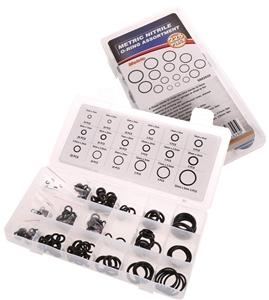 225pc Metric O-Ring Assortment Kit, Size