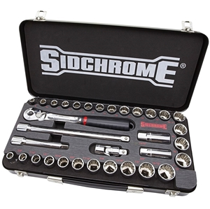 SIDCHROME 33pc Socket Set Metric and AF