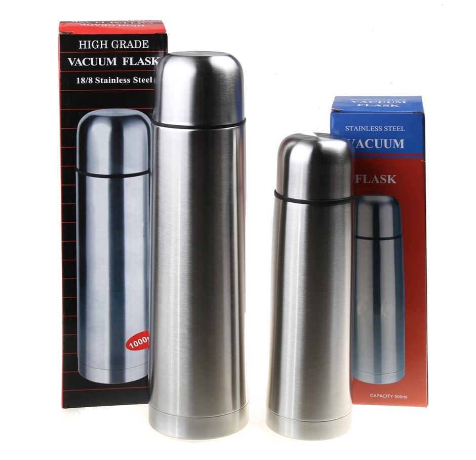 2 x Stainless Steel Flasks, 1000ml & 500ml. Buyers Note - Discount Freight
