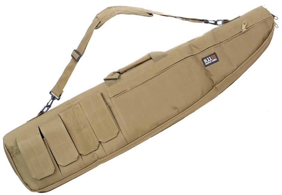 Canvass Rifle Bag 970mm c/w Shoulder Strap and Ammunition Pockets, Tan. Buy