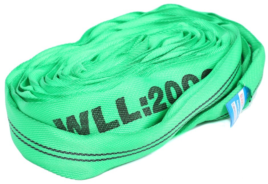 2 x Round Lifting Slings, WLL 2,000kg x 3M (With Test Cert). Buyers Note -