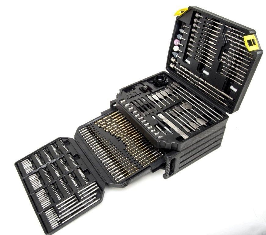 401pc Drill & Bit Set In Blow Mould Carry Case c/w Drawers Contents: 33 x H
