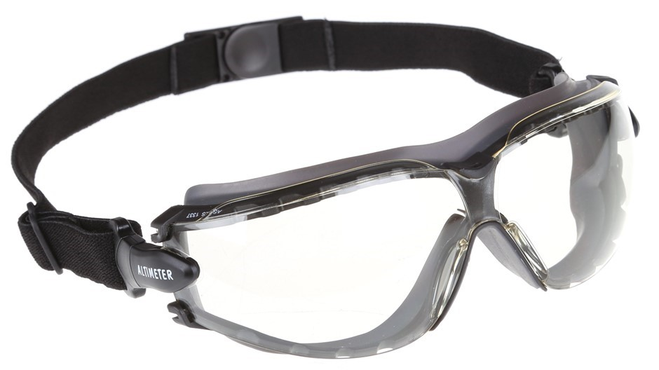 12 Pairs x MSA ALTIMETER Eye Protective Spoggle, Dark Smoke Lens c/w Arms a