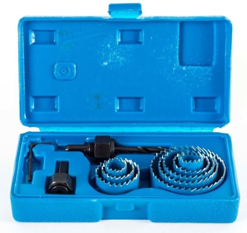 BERENT 11pc Hole Saw Set, Sizes: 19, 22, 30, 32, 38, 44, 51 & 64mm. Buyers