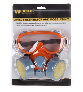 2pc Respirator & Goggle Set. Buyers Note