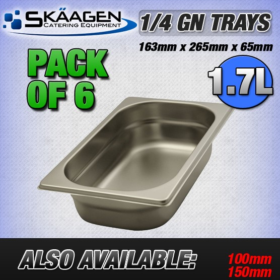 Unused 1/3 Gastronorm Trays 65mm - 6 Pack