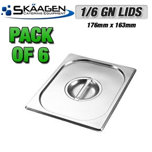 Unused 1/6 Gastronorm Tray Lids - 6 Pack