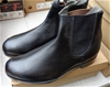 T Boots Black Elastic Sided Leather Ankle Boots 8.5 - DELIVERY AVAILABLE