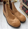 <b>T Boots Beige Elastic Sided Leather Desert Boots 8 - DELIVERY AVAILABLE