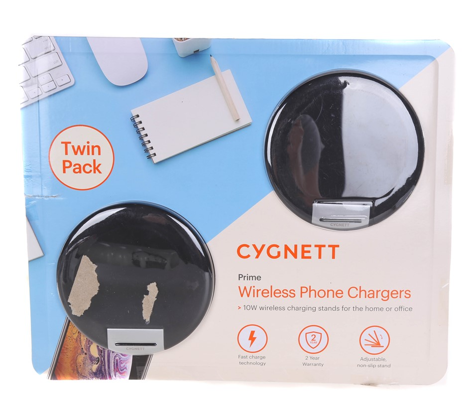 CYGNETT Prime Wireless Phone Chargers. N.B Package Damage. (SN:CC49495) (26