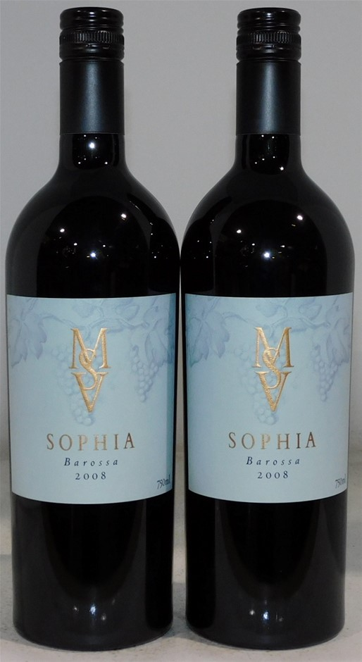 Murray Street Vineyards Sophia Shiraz 2008 (2x 750mL), Barossa. Screwcap.