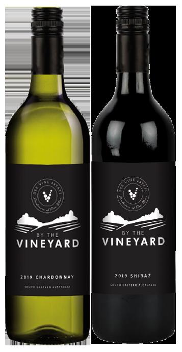 By The Vineyard Mixed Pack Shiraz & Chardonnay 2019 (12x 750mL). SEA.