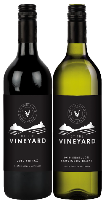 By The Vineyard Mixed Pack Shiraz & Sem Sauv Blanc 2019 (12x 750mL). SEA.