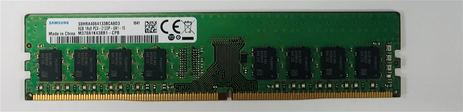 Samsung 8GB 1Rx8 DDR4-2133P 288pin SDRAM Single-Sided 8-Chip Memory Module