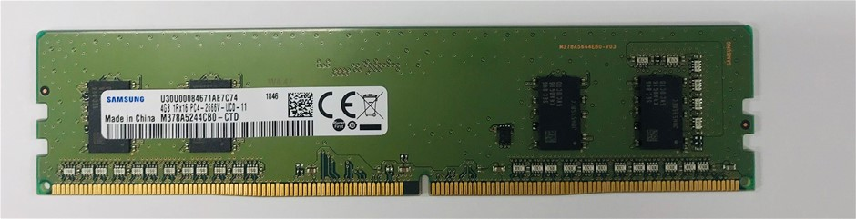 Samsung 4GB 1Rx16 DDR4-2666V 288pin SDRAM Single-Sided 4-Chip Memory Module