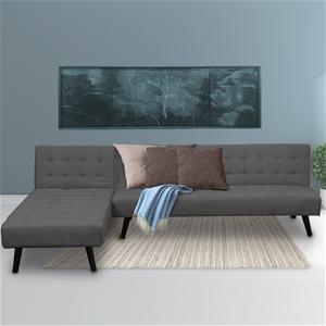 Corner Sofa Linen Lounge Chaise Couch L-