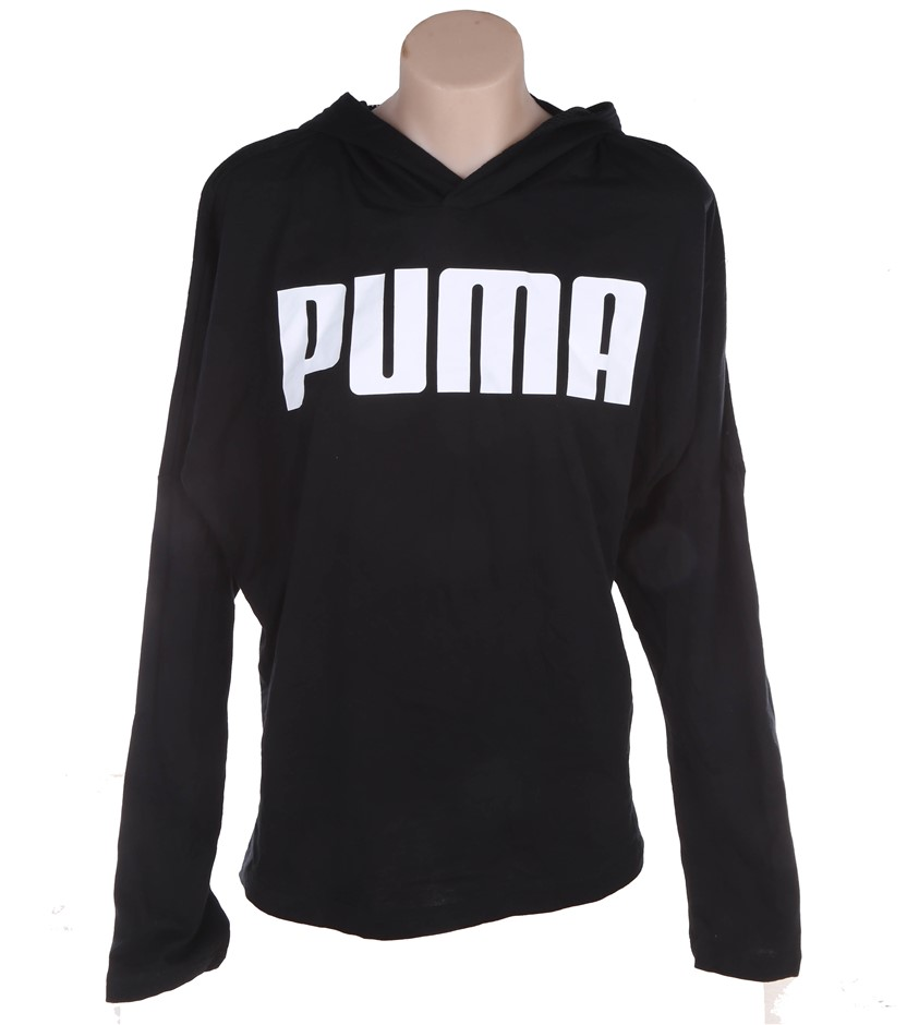 PUMA Women`s Urban Sport Light Weight Cover-Up, Size M, Cotton/Modal, Black