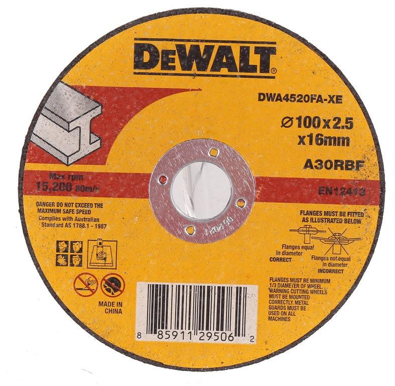 10 x DeWALT Metal Abrasive Cut-off Discs 100mm x 2.5mm x 16mm. Buyers Note