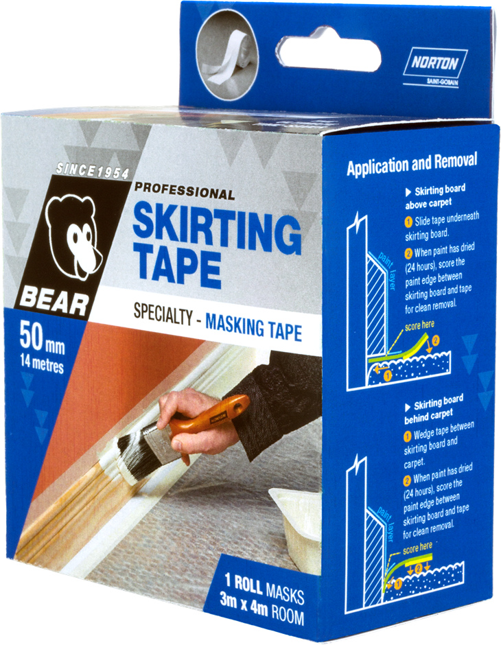 12 x Rolls of Skirting Masking Tape Mylar
