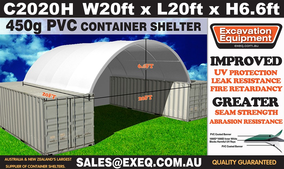 2020 Unused Heavy duty 20ft Container Shelter with end wall