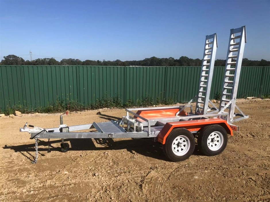 2019 New Plant Trailer - Galvanised Plant Trailer Tandem Heavy Duty 3400kg