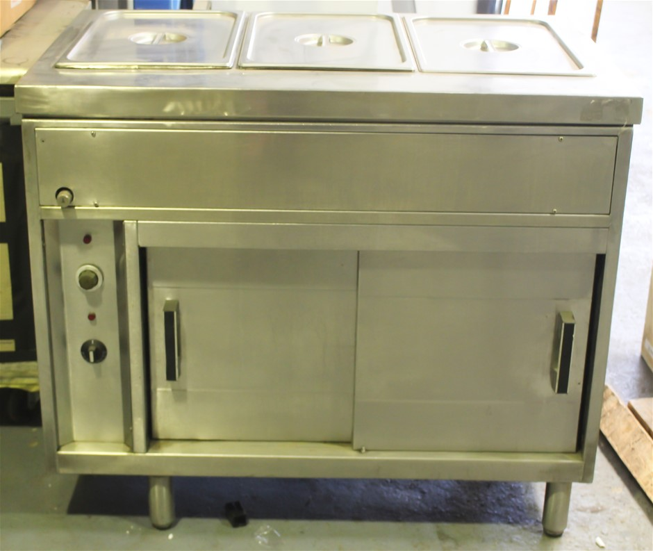 BAIN MARIE WITH CABINET WARMER