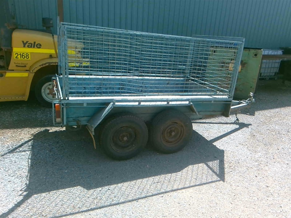 Glavanized Dual Axle Trailer with Cage