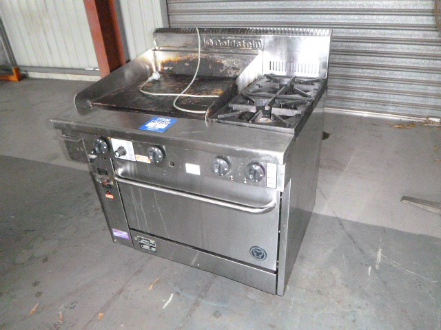 Goldstein PF24G228FF Gas Oven with Griddle Plate and x2 Burners