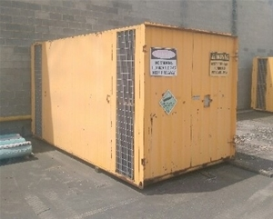 Flammable Gas Container with 2 Compartme