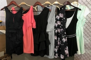 A quantity of 7 Women`s Dresses, assorte