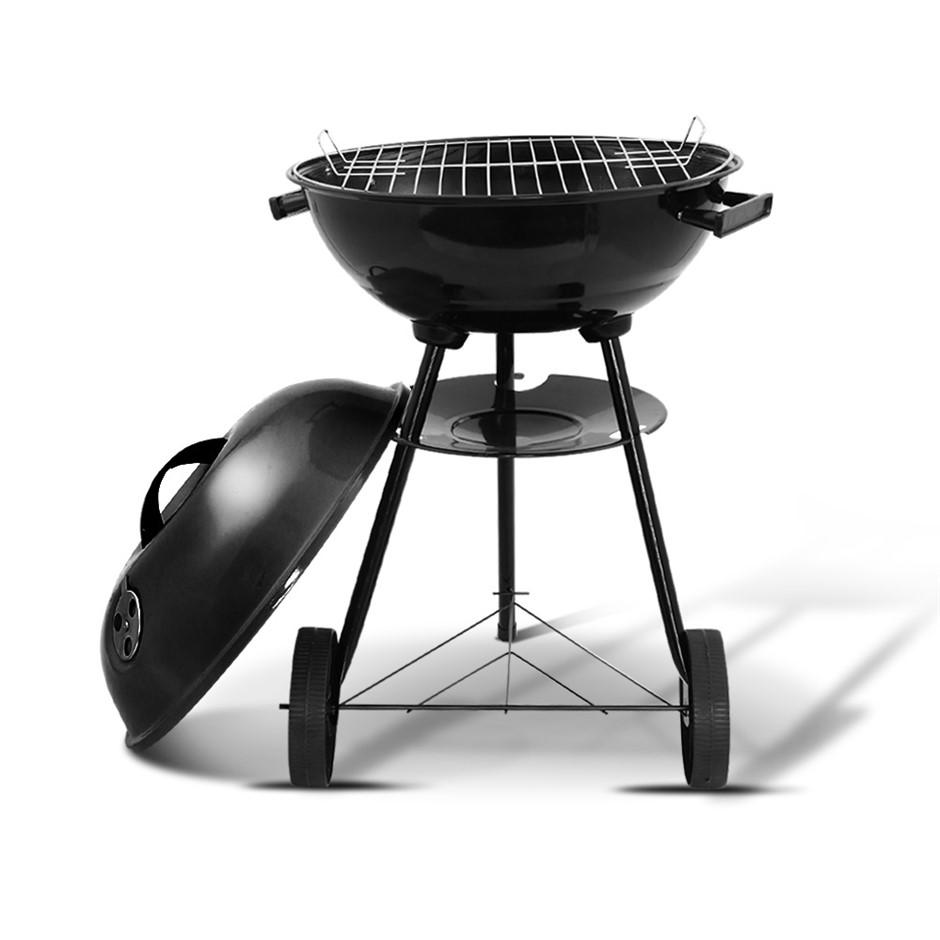 Grillz Charcoal BBQ Smoker Drill Outdoor Camping Wood Barbeque Steel Oven