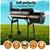 Grillz 2-in-1 Offset BBQ Smoker - Black