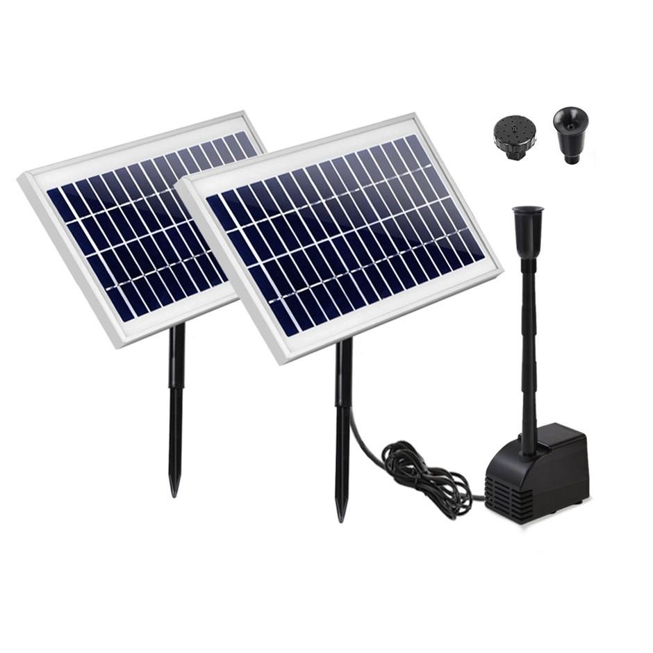 110W Water Solar Pond Pump Kit Garden Outdoor Filter Panel