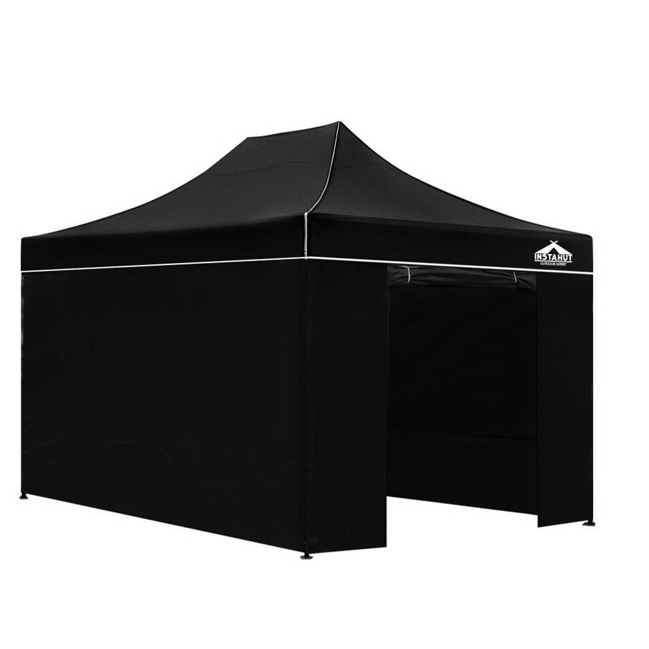 Instahut 3x4.5m Outdoor Gazebo - Black