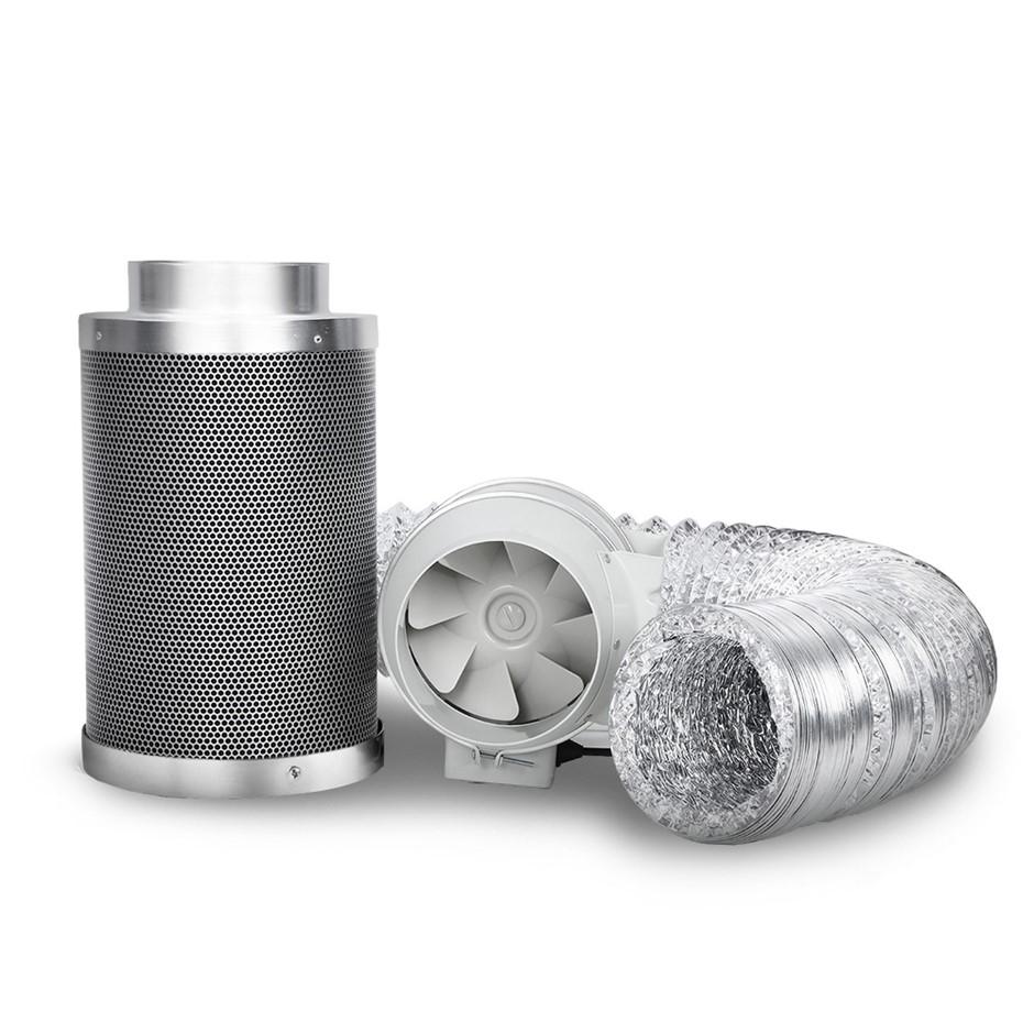 Greenfingers 6inch Hydroponics Grow Tent Kit Ventilation Kit Fan Carbon
