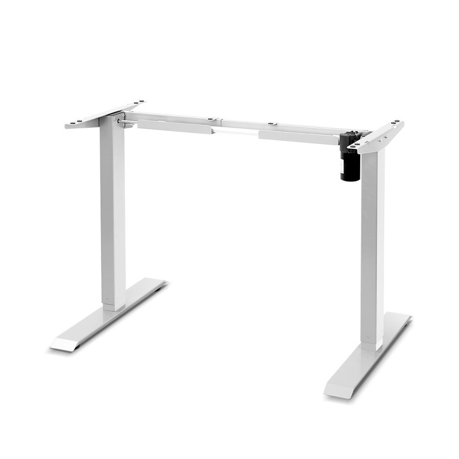 Motorised Height Adjustable Standing Desk Frame - White